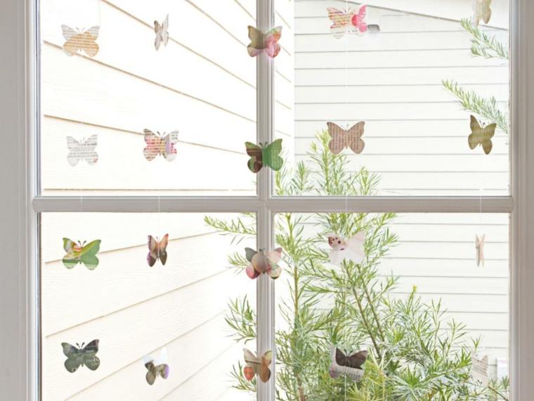 cortinas mariposas voladoras ideas cristales