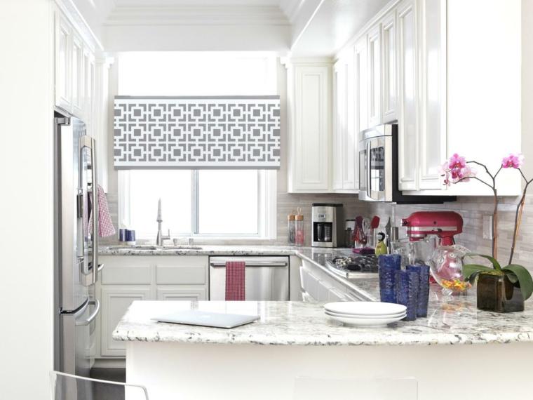 cortinas para cocina efectos ideas marmol