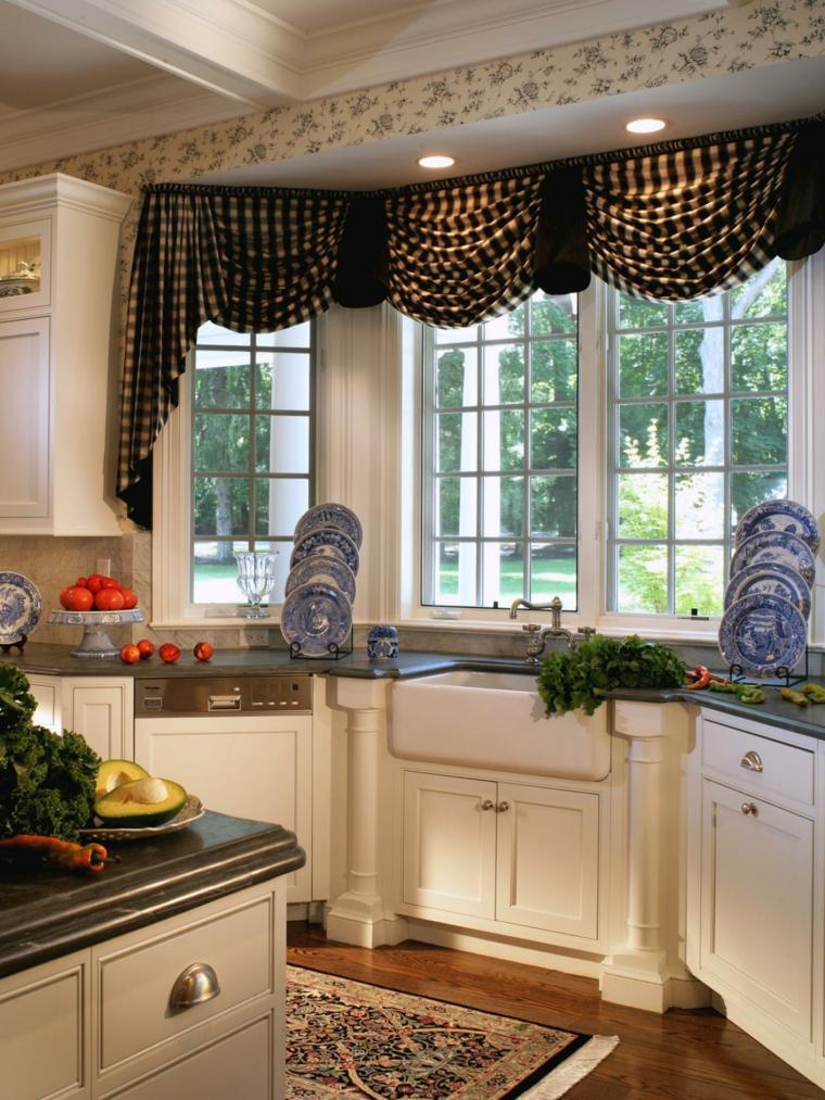 Cortinas para cocina las mejores opciones para dise os - Cortinas para cocina fotos ...