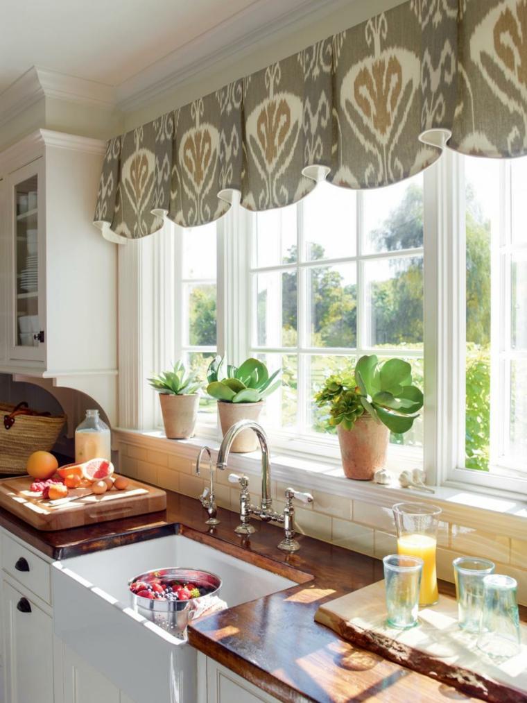 cortinas para cocina llamativas materiales