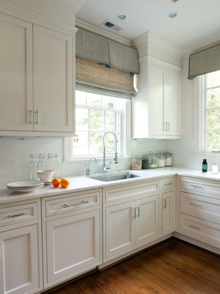 cortinas para cocina suelos madera color materiales