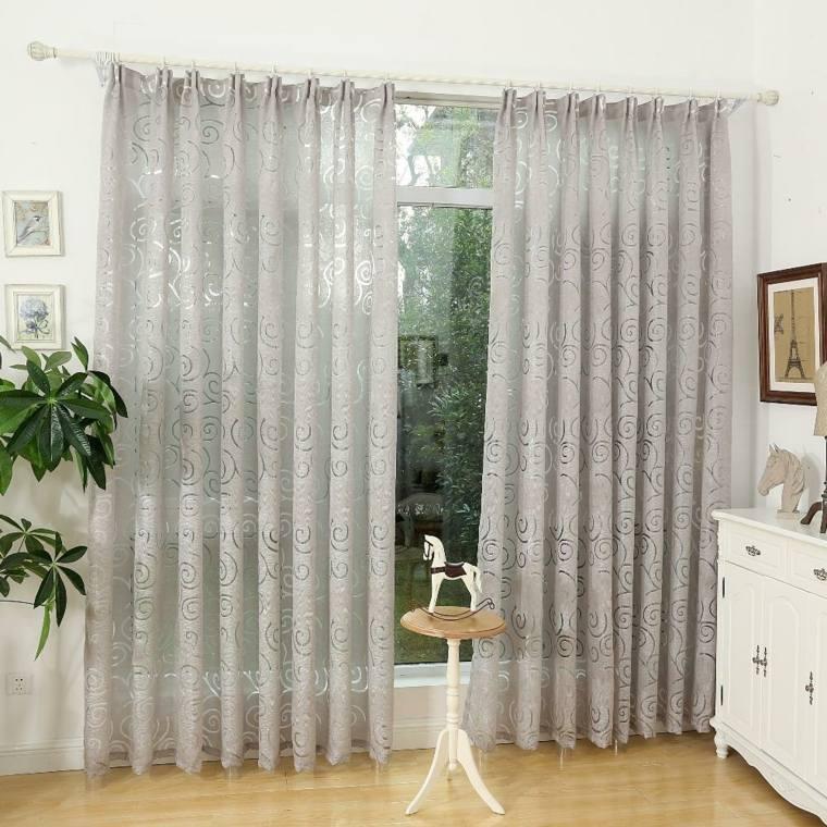 Cortinas para puertas de cocina para decorar el interior - Decorar cristales de puertas ...