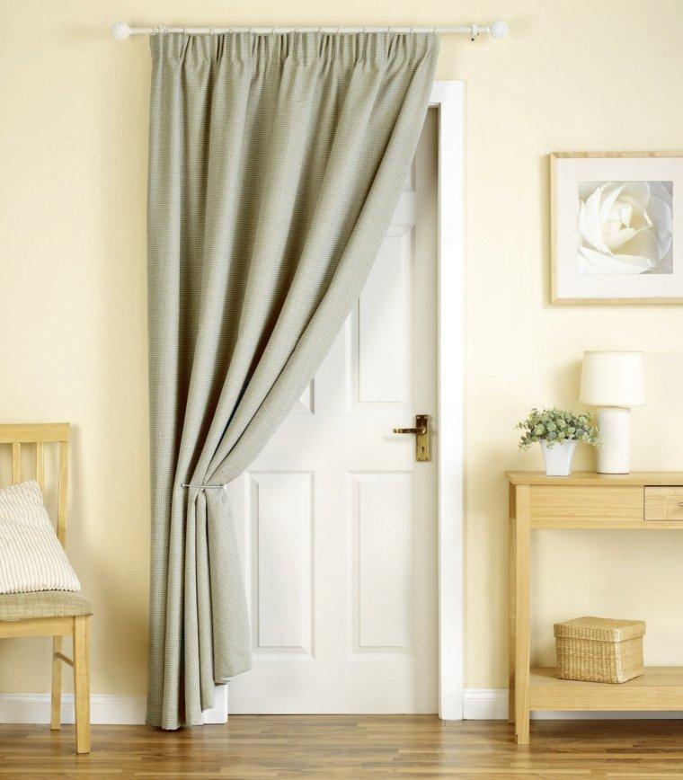 Cortinas para puertas de cocina para decorar el interior for Ganchos para cortinas de madera