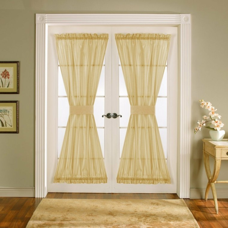 Cortinas para puertas de cocina para decorar el interior for Cortinas largas