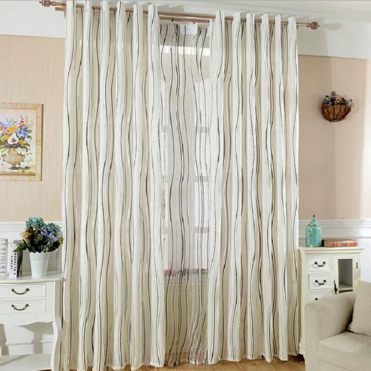 Cortinas para ventanas oscilobatientes para decorar el interior - Visillos para salones ...