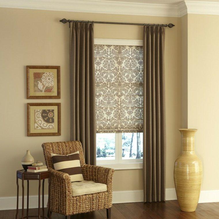 cortinas para ventanas oscilobatientes sala de estar