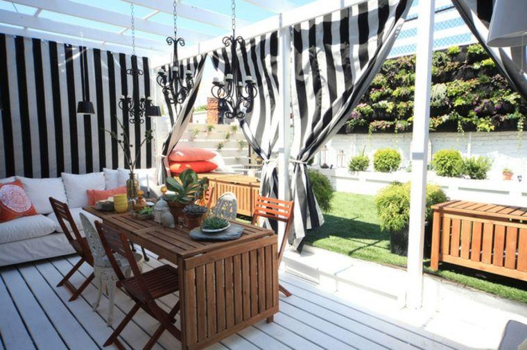 porche terraza cortinas bandas