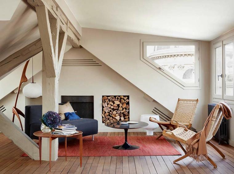 crema relajante chimeneas conceptos muebles leña