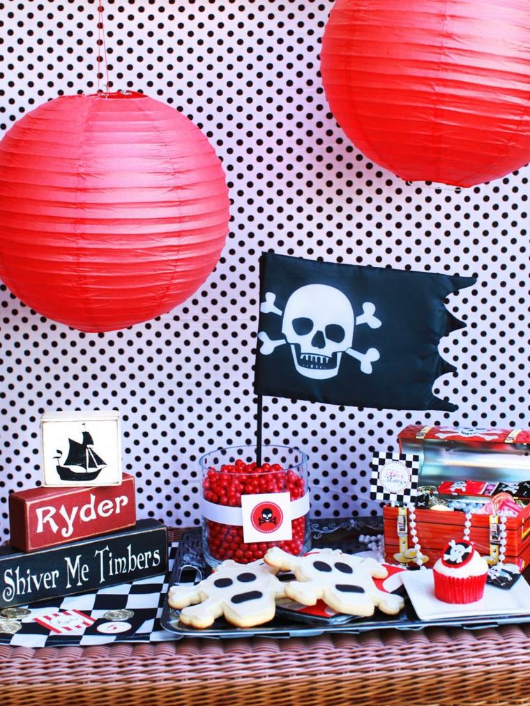 cumpleaños decoracion especial piratas faroles