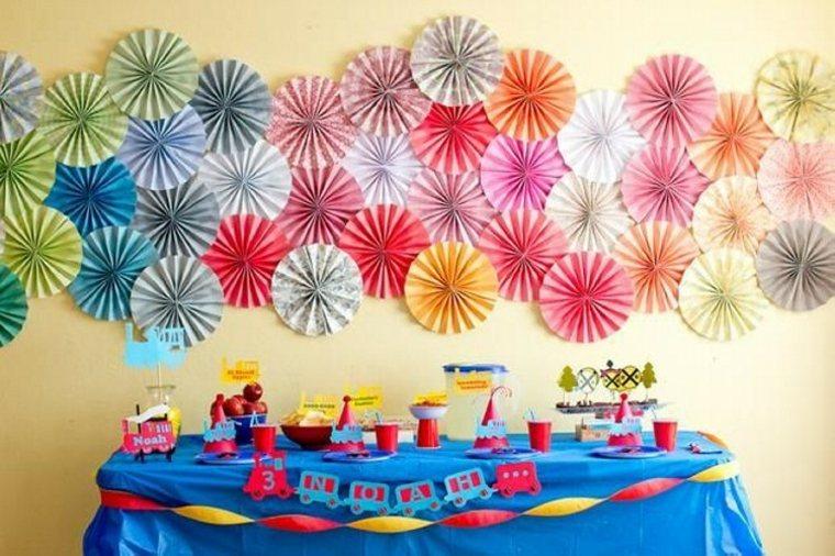 cumpleaños decoracion papales paredes reciclados muebles