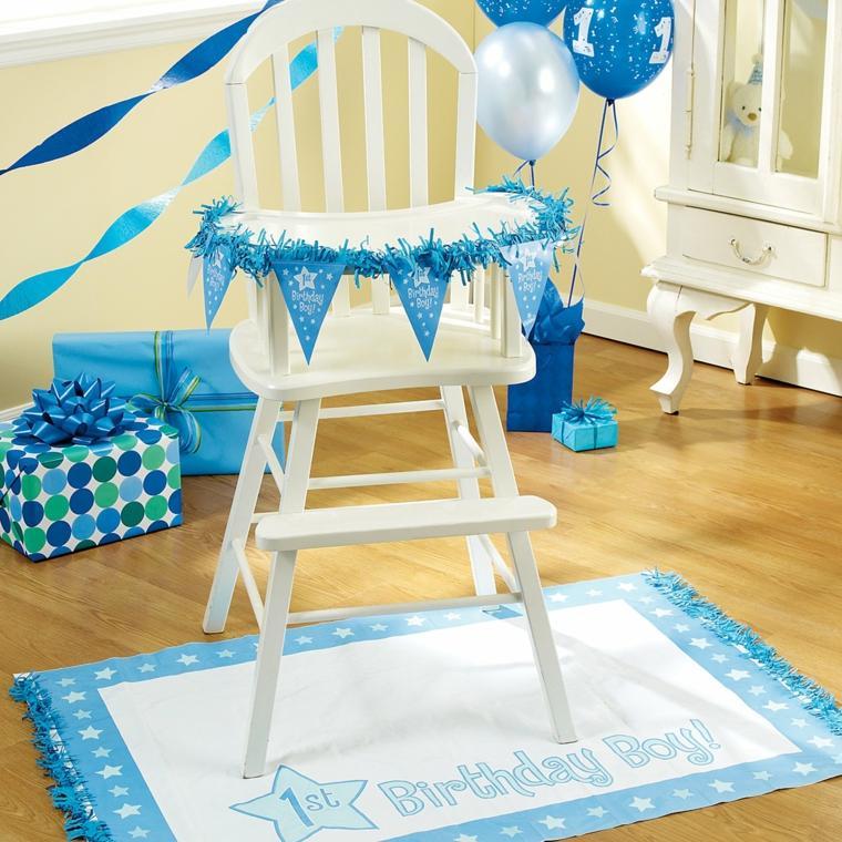 cumpleaños decoracion primero varones blanco