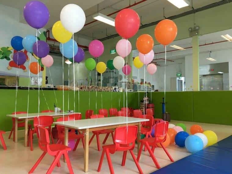 cumpleaños decoracion salones globos paisajes