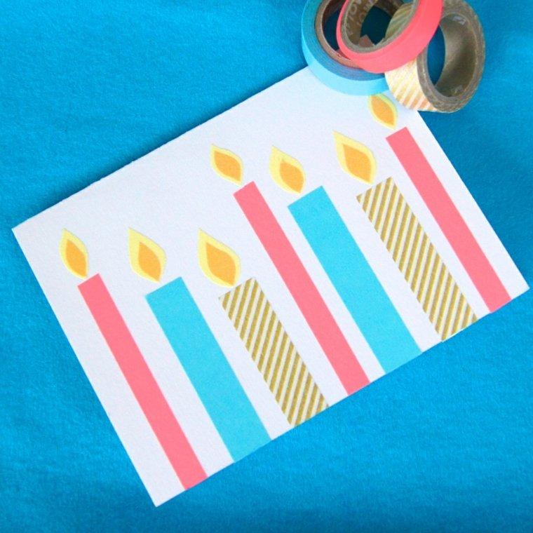 bonita tarjeta washi tape