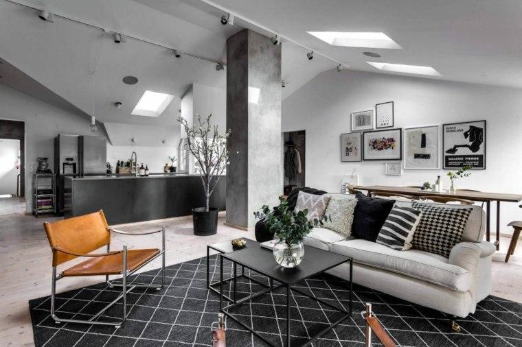 decoración de interiores apartamento gris negro DesignFolder ideas