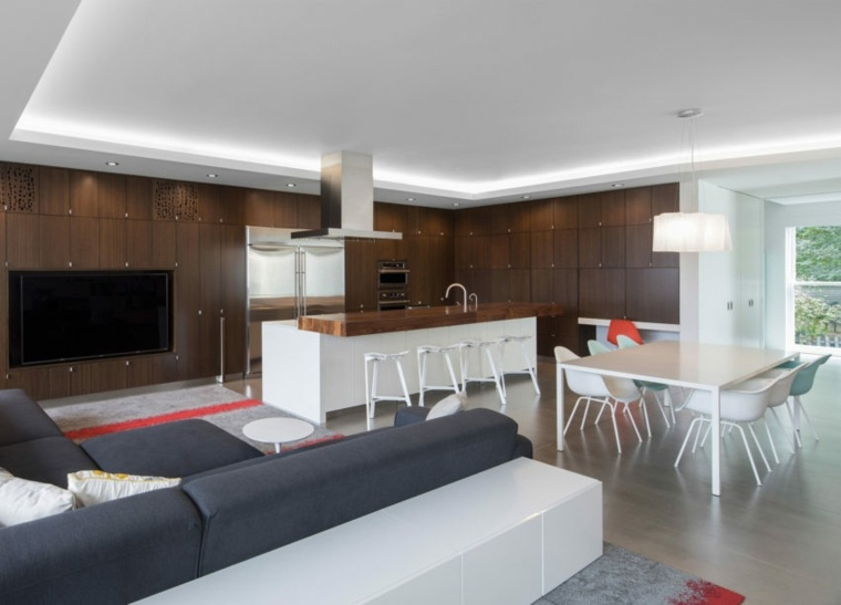decoración de interiores residencia amplia Robert Maschke Architects ideas