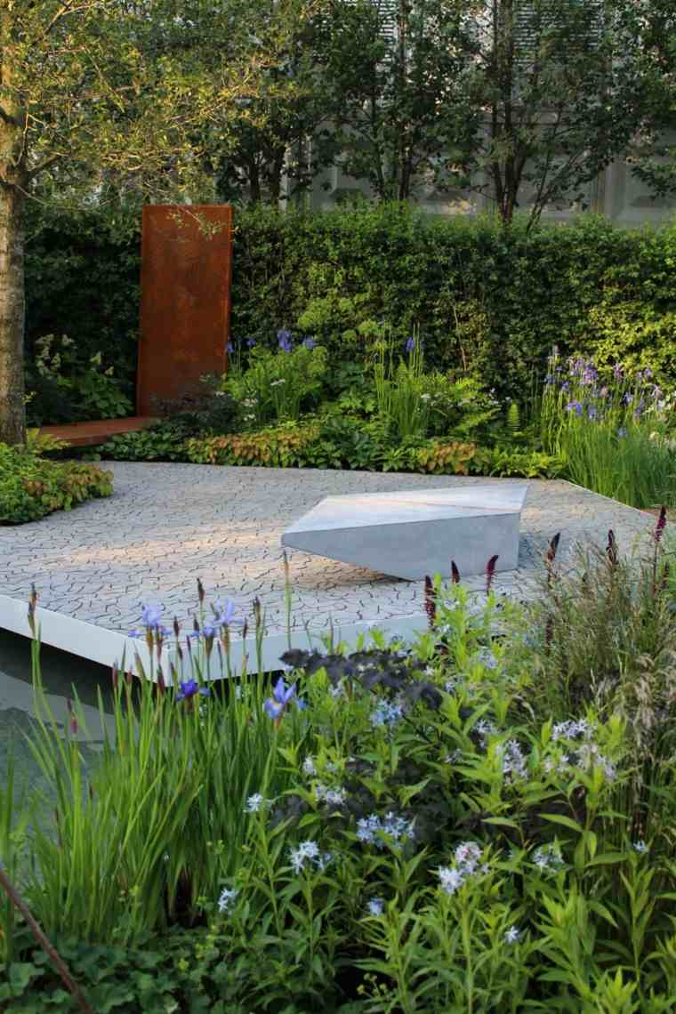 decoracion jardin acero corten ideas muros