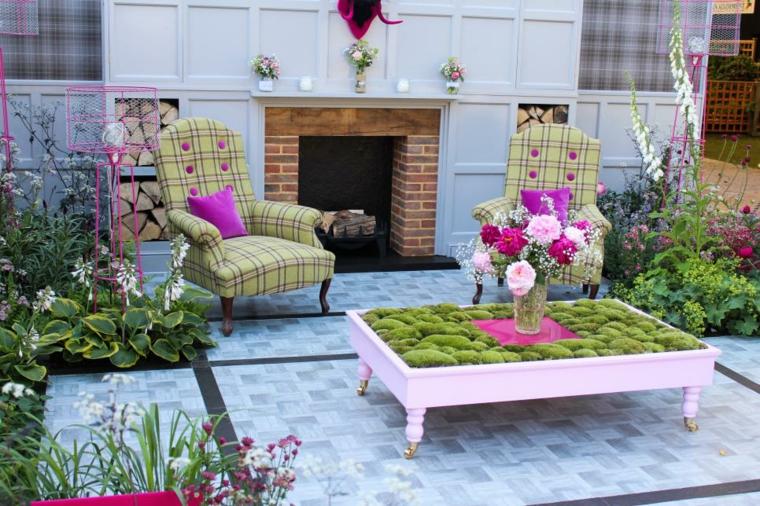 decoracion jardin original estilos salones cojines