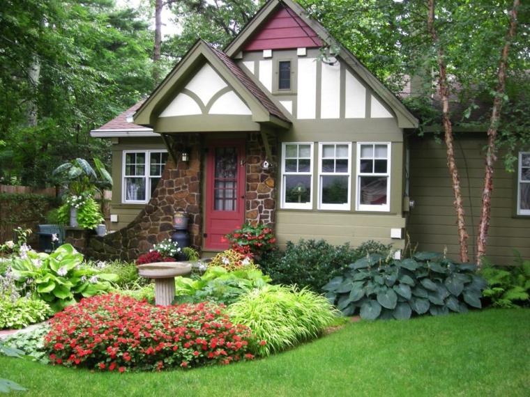 decoracion jardin sistemas sencillo cesped materiales