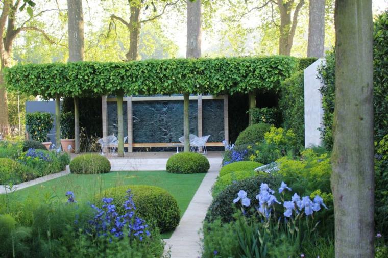 decoracion jardin techado plantas consejos flores