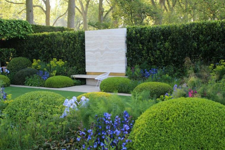 decoracion jardin vaya verde listones intimidad