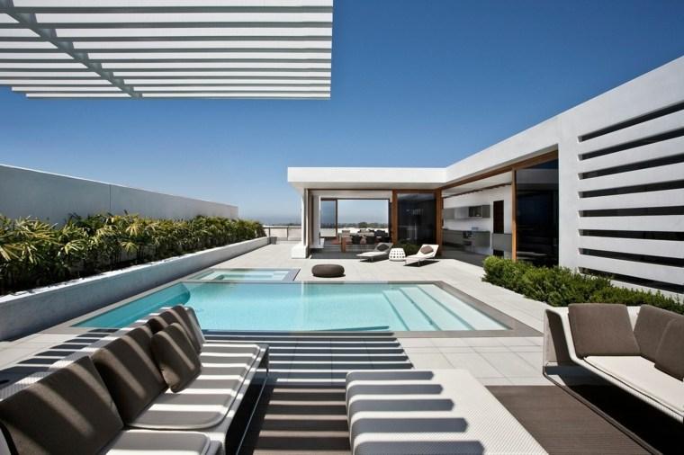 decoracion piscina pequena terraza moderna ideas