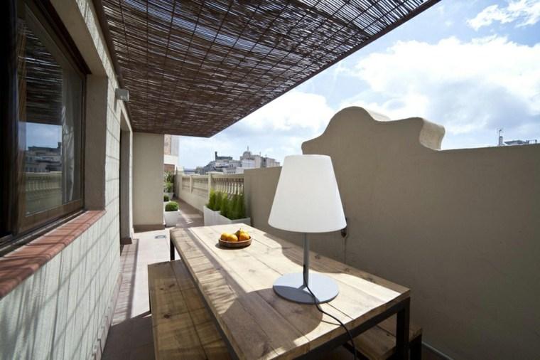 decoración terraza ático moderno