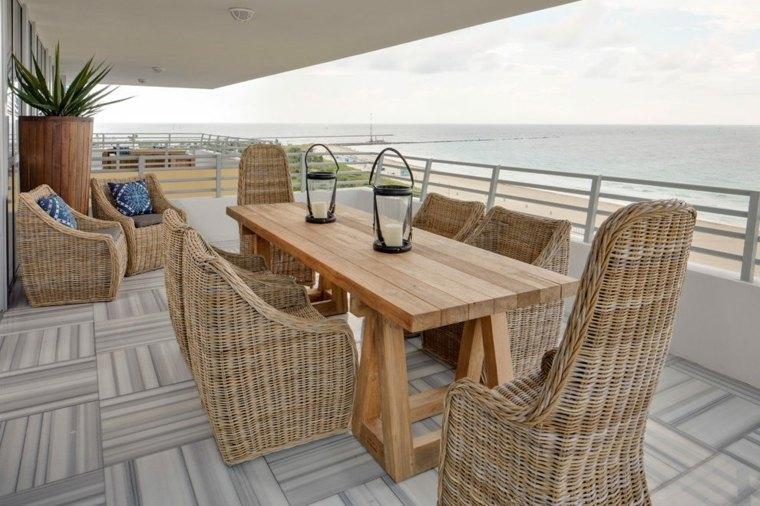 decoración terrazas áticos elegantes diseño