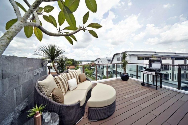 decoración terrazas áticos grandes elegantes