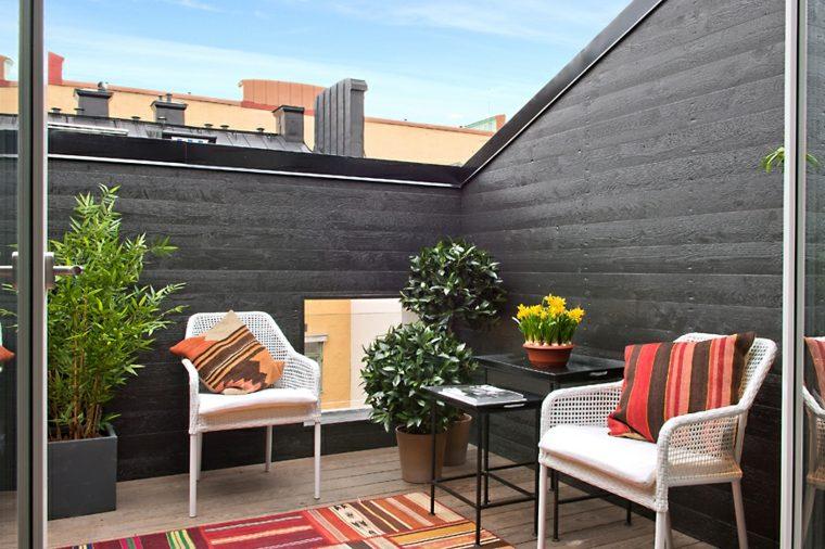 decoración terrazas áticos modernos pequeños