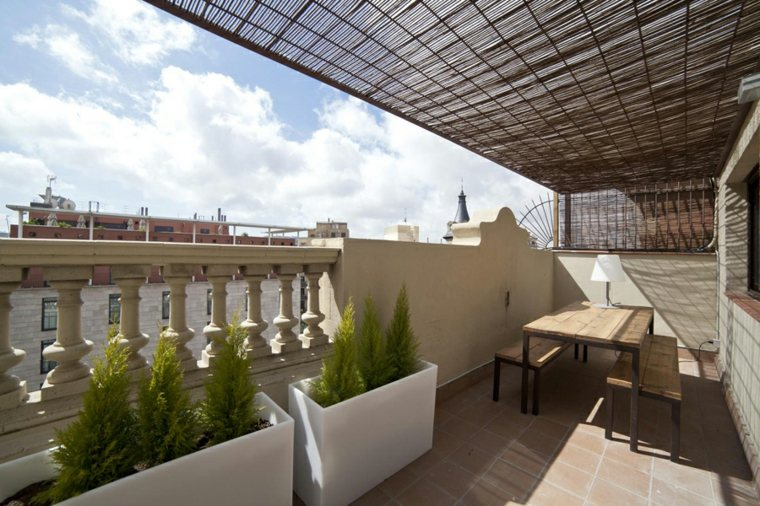 decorar ático terraza moderna