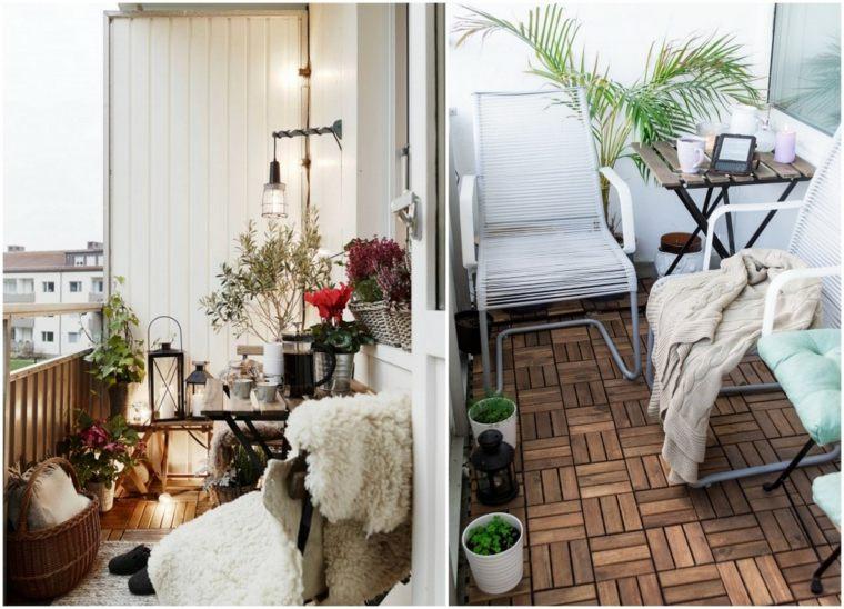 Decorar balcones peque os con estilo 40 ideas en fotos - Muebles para balcones pequenos ...
