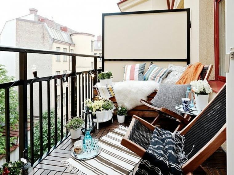 decorar balcones pequeños espacio acogedor ideas
