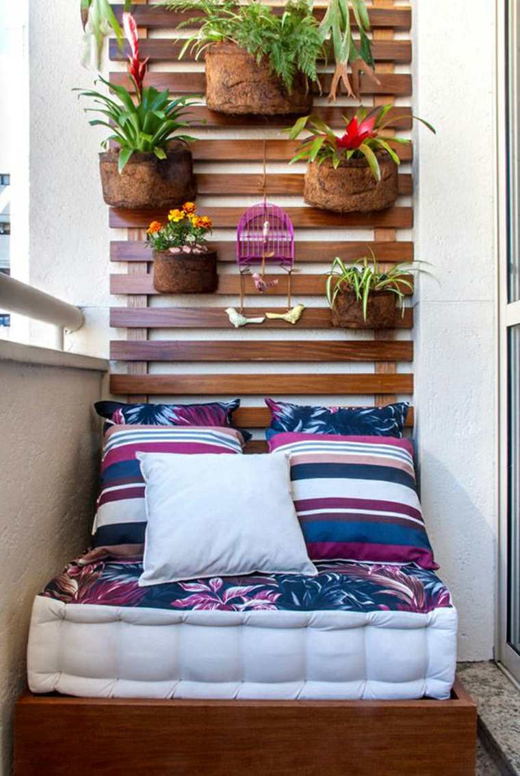 decorar balcones pequenos jardin vertical plantas ideas