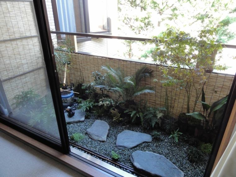 decorar balcones pequenos jardin zen ideas