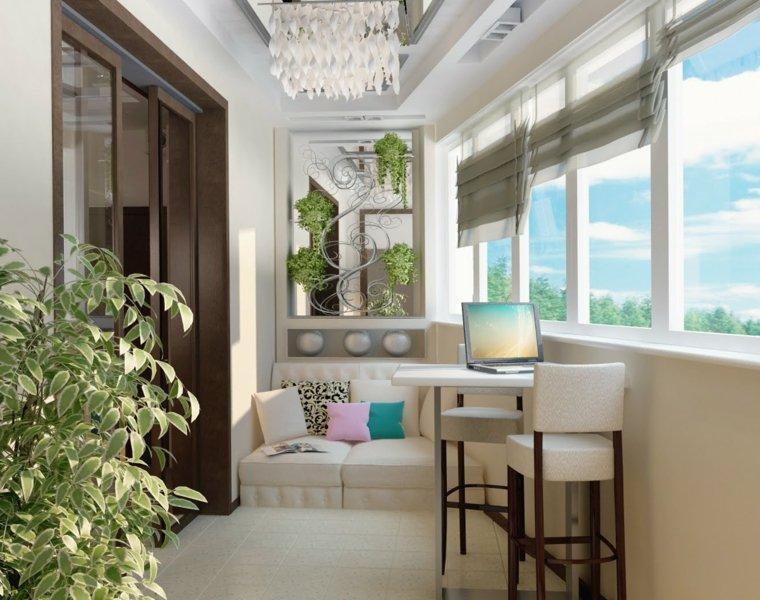 decorar balcones pequenos oficina balcon cerrado ideas