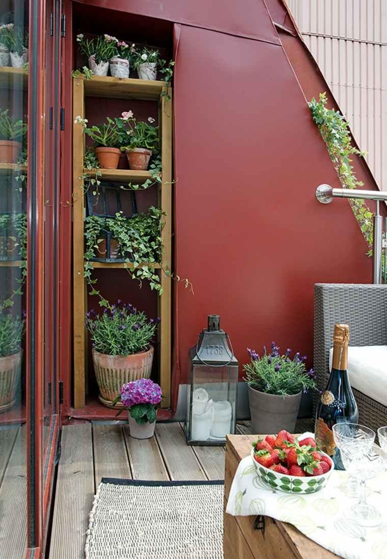 Decorar balcones peque os con estilo 40 ideas en fotos - Balcones de madera ...
