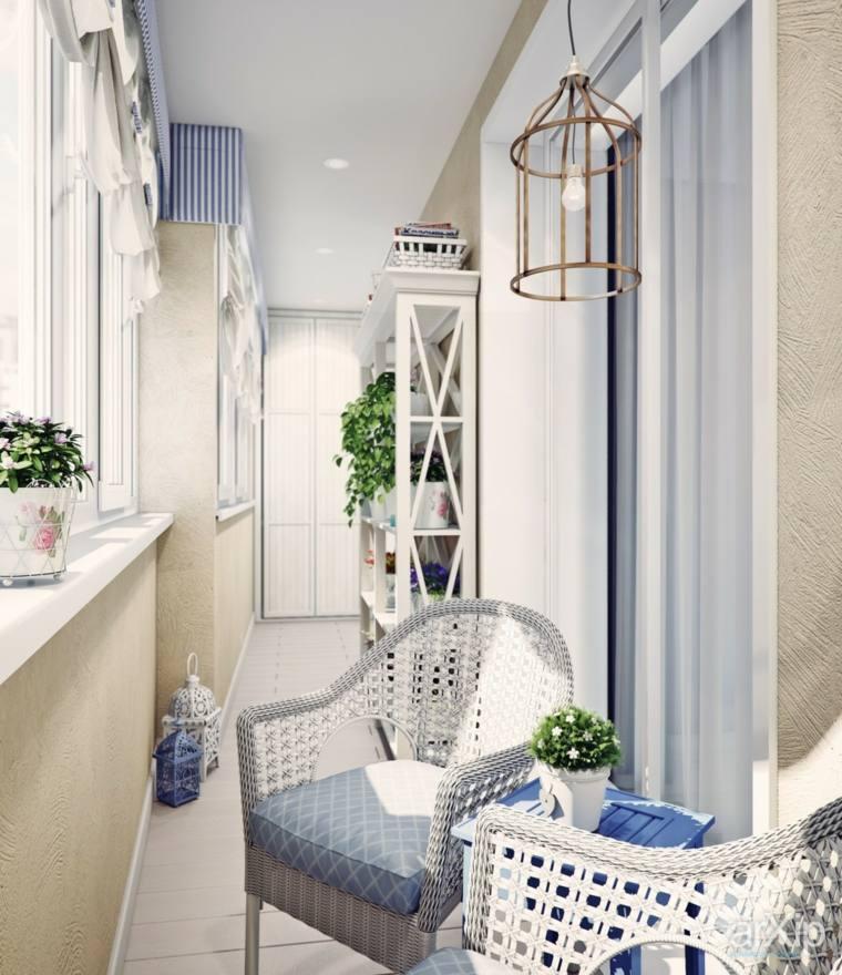 decorar balcones pequeños sillones estilo moderno ideas