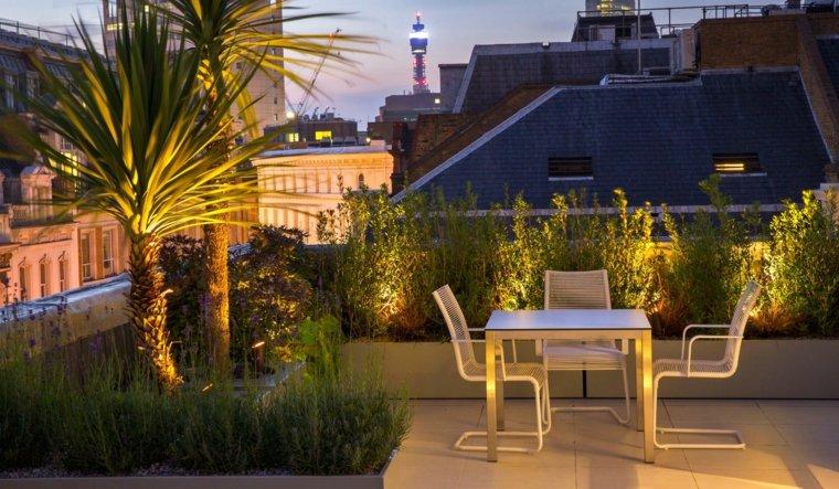 decorar terrazas barato comedor aire libre muebles blancos ideas