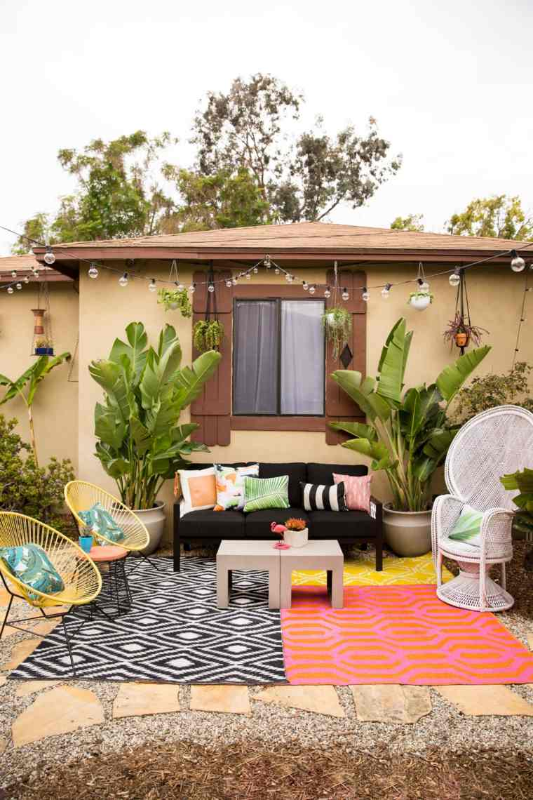 decorar terrazas barato diseno muebles combinacion ideas