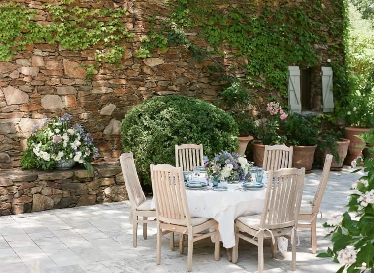 decorar terrazas barato estilo romantico diseno exteriores ideas
