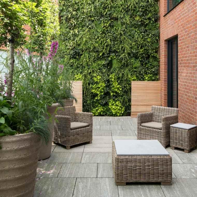 decorar terrazas barato jardin vertical bello ideas