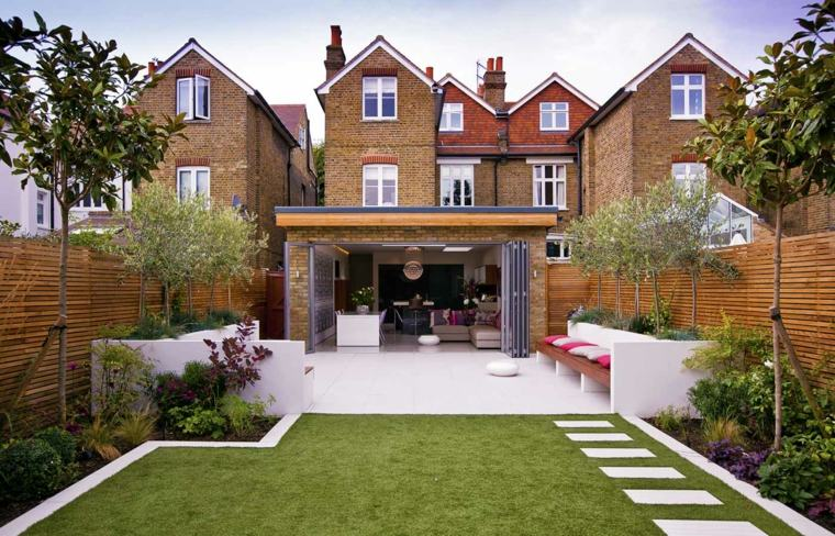 decorar terrazas barato opciones jardin cesped ideas