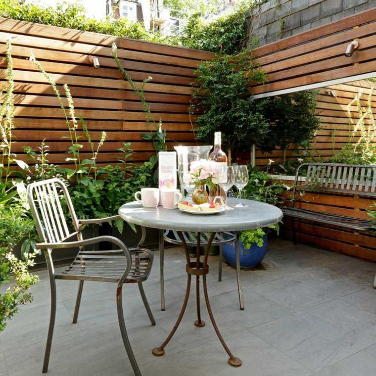 decorar terrazas barato opciones vallas madera altas ideas
