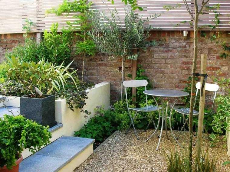 decorar terrazas barato plantas muebles acero ideas