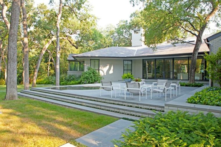 decorar terrazas ideas arboles muebles plantas