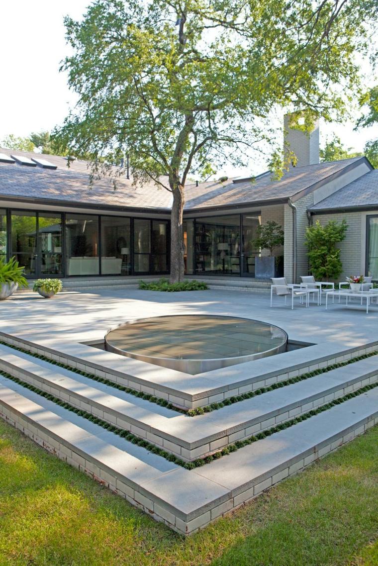 decorar terrazas ideas colores blancos comedores