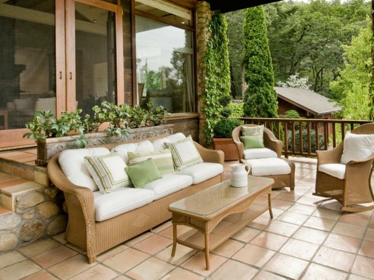 decorar terrazas ideas tradicional muebles cojines