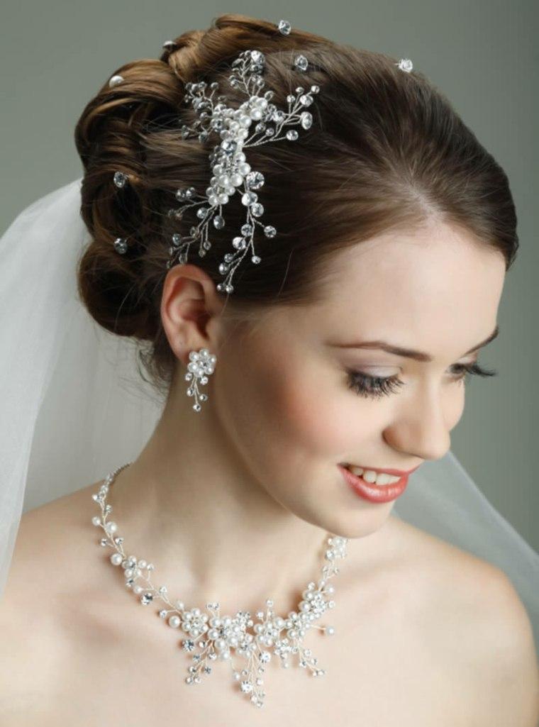 detalles bellos novia brillo pelo boda ideas