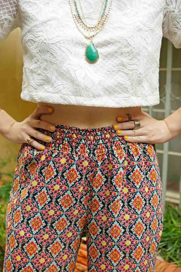 detalles pantalones estilos colores anillos