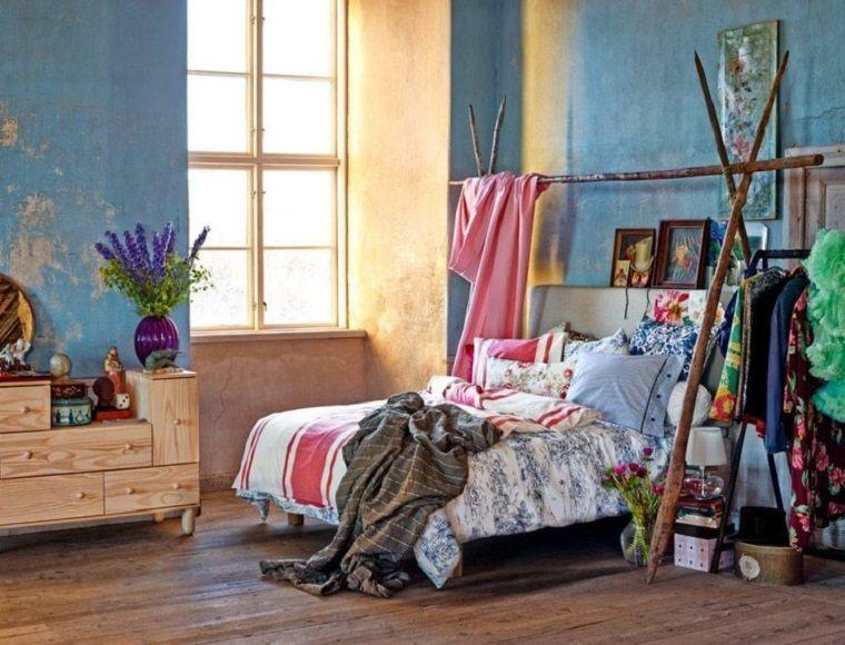 detalles rusticos dormitorio especial materiales
